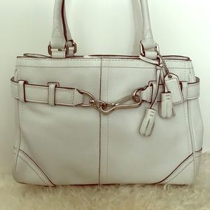 Coach Handbag In White